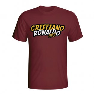 Cristiano Ronaldo Comic Book T-shirt (maroon) - Kids