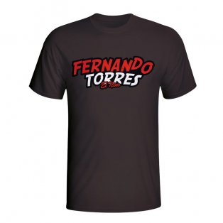 Fernando Torres Comic Book T-shirt (black) - Kids