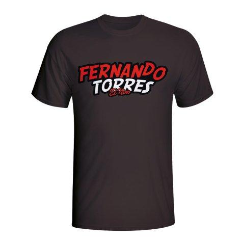Fernando Torres Comic Book T-shirt (black)