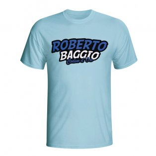 Roberto Baggio Comic Book T-shirt (sky Blue) - Kids