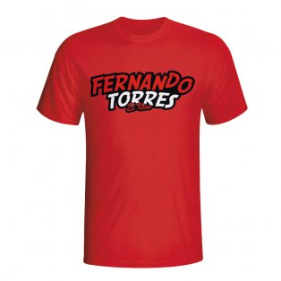 Fernando Torres Comic Book T-shirt (red) - Kids