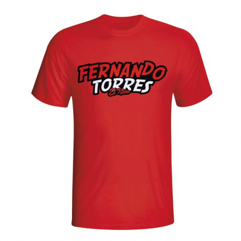 Fernando Torres Comic Book T-shirt (red)