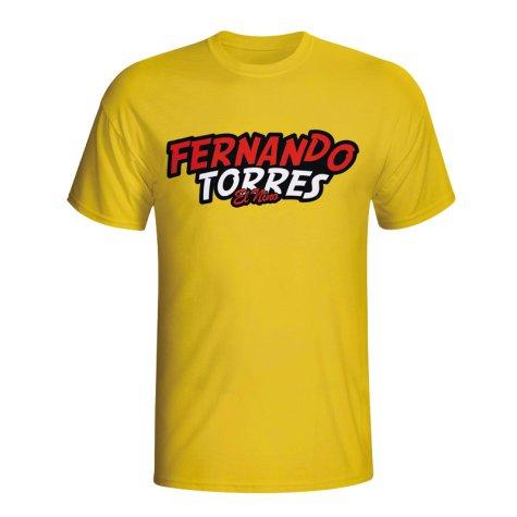 Fernando Torres Comic Book T-shirt (yellow) - Kids