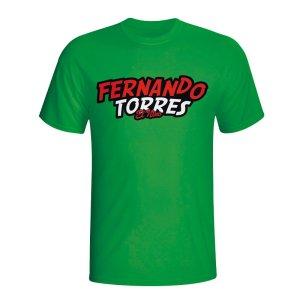 Fernando Torres Comic Book T-shirt (green) - Kids