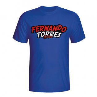 Fernando Torres Comic Book T-shirt (blue) - Kids