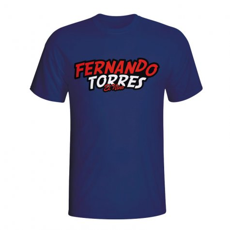 Fernando Torres Comic Book T-shirt (navy) - Kids