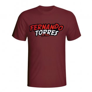 Fernando Torres Comic Book T-shirt (maroon) - Kids