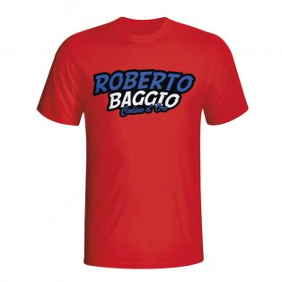 Roberto Baggio Comic Book T-shirt (red) - Kids