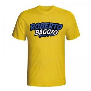 Roberto Baggio Comic Book T-shirt (yellow) - Kids