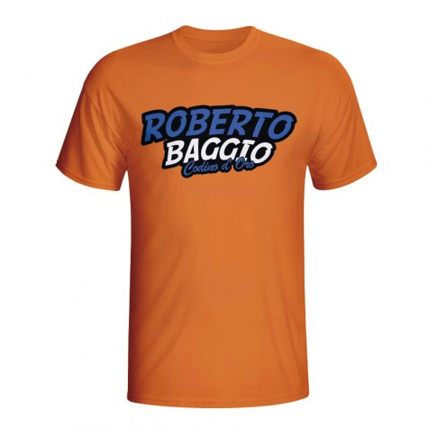 Roberto Baggio Comic Book T-shirt (orange)