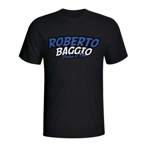 Roberto Baggio Comic Book T-shirt (black) - Kids