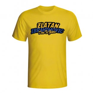 Zlatan Ibrahimovic Comic Book T-shirt (yellow)