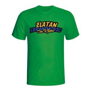 Zlatan Ibrahimovic Comic Book T-shirt (green) - Kids