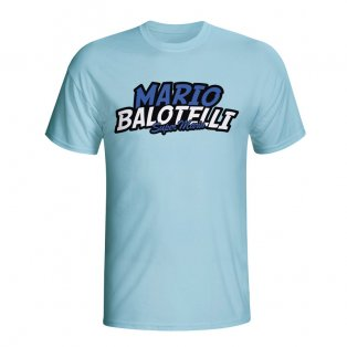 Mario Balotelli Comic Book T-shirt (sky Blue) - Kids