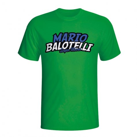 Mario Balotelli Comic Book T-shirt (green) - Kids