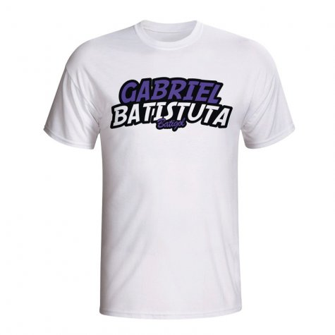Gabriel Batistuta Comic Book T-shirt (white)