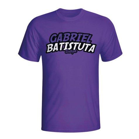 Gabriel Batistuta Comic Book T-shirt (purple)