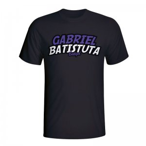 Gabriel Batistuta Comic Book T-shirt (black) - Kids