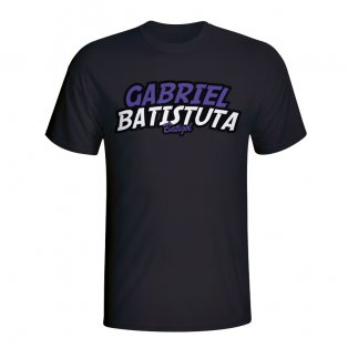 Gabriel Batistuta Comic Book T-shirt (black)
