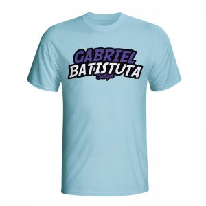 Gabriel Batistuta Comic Book T-shirt (sky Blue) - Kids