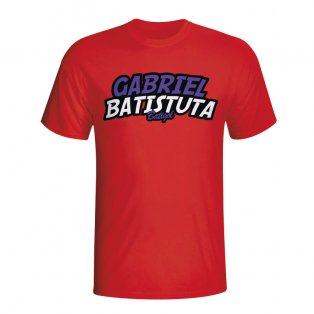 Gabriel Batistuta Comic Book T-shirt (red)
