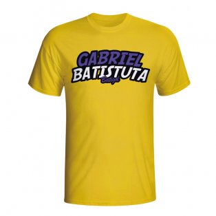 Gabriel Batistuta Comic Book T-shirt (yellow) - Kids