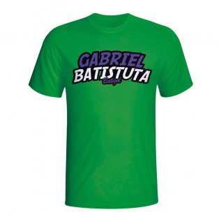 Gabriel Batistuta Comic Book T-shirt (green)