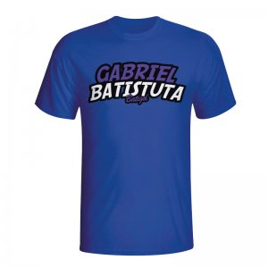 Gabriel Batistuta Comic Book T-shirt (blue)