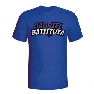 Gabriel Batistuta Comic Book T-shirt (blue) - Kids