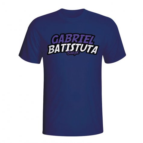 Gabriel Batistuta Comic Book T-shirt (navy)