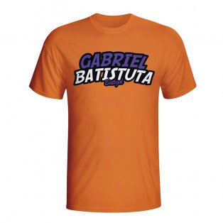 Gabriel Batistuta Comic Book T-shirt (orange)