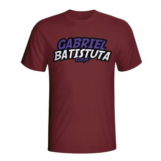 Gabriel Batistuta Comic Book T-shirt (maroon) - Kids
