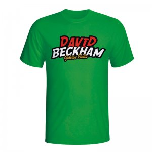 David Beckham Comic Book T-shirt (green)