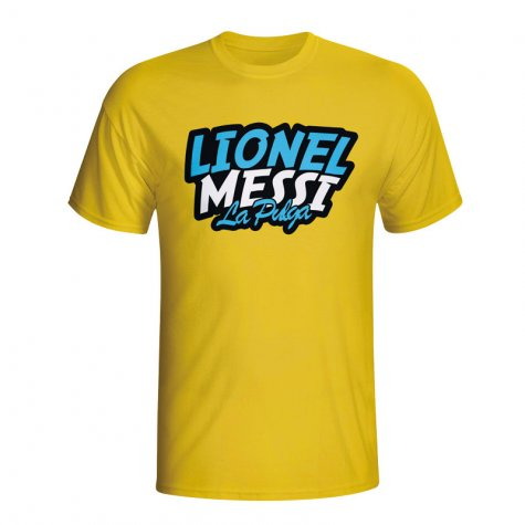Lionel Messi Comic Book T-shirt (yellow)