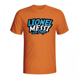 Lionel Messi Comic Book T-shirt (orange) - Kids