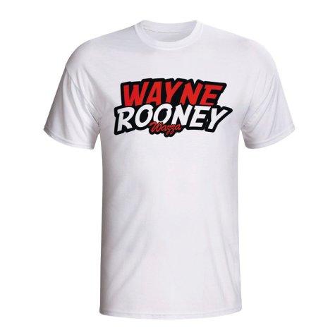 Wayne Rooney Comic Book T-shirt (white)