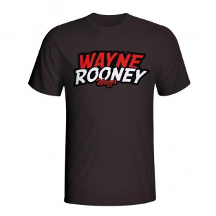 Wayne Rooney Comic Book T-shirt (black) - Kids