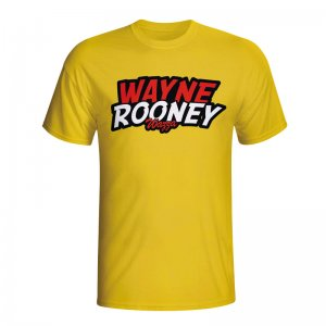 Wayne Rooney Comic Book T-shirt (yellow) - Kids