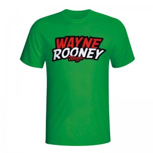 Wayne Rooney Comic Book T-shirt (green)