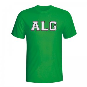 Algeria Country Iso T-shirt (green)