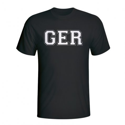Germany Country Iso T-shirt (black)