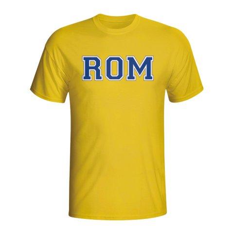 Romania Country Iso T-shirt (yellow) - Kids