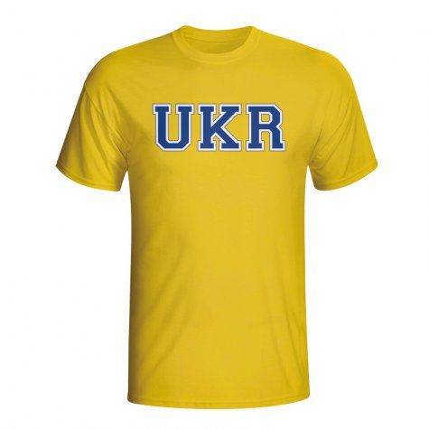 Ukraine Country Iso T-shirt (yellow)