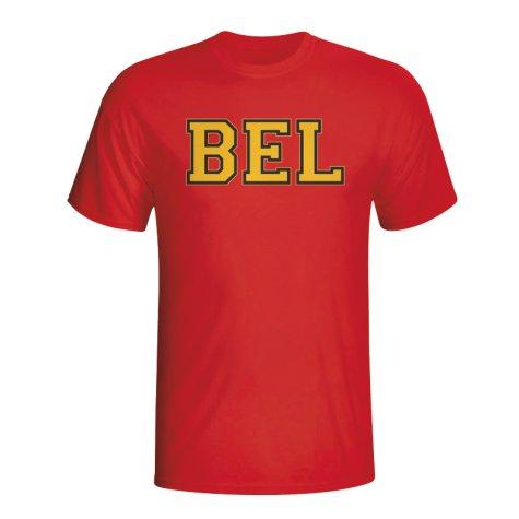 Belgium Country Iso T-shirt (red) - Kids