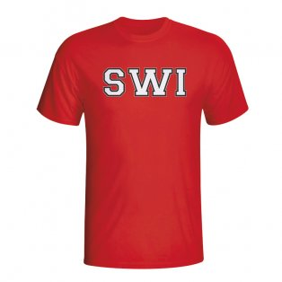 Switzerland Country Iso T-shirt (red) - Kids