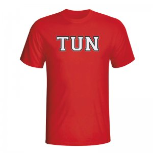Tunisia Country Iso T-shirt (red)
