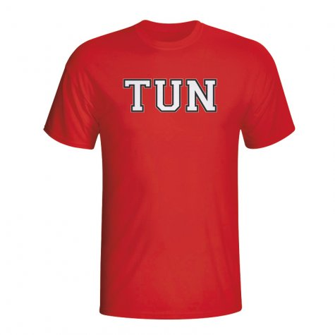 Tunisia Country Iso T-shirt (red) - Kids