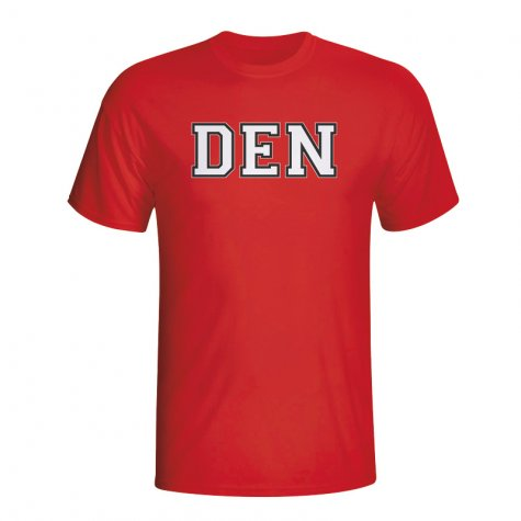 Denmark Country Iso T-shirt (red)