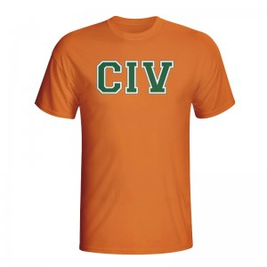 Ivory Coast Country Iso T-shirt (orange) - Kids