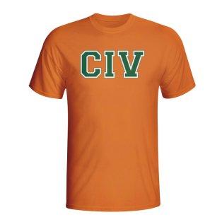 Ivory Coast Country Iso T-shirt (orange)